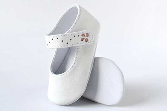 Baby mary janes Baby girl shoes White baby shoes Leather