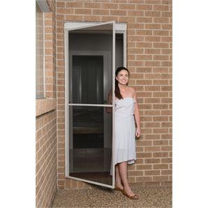 Pillar products 820 x 2040mm white aluminum flyscreen for Bella retractable screen door