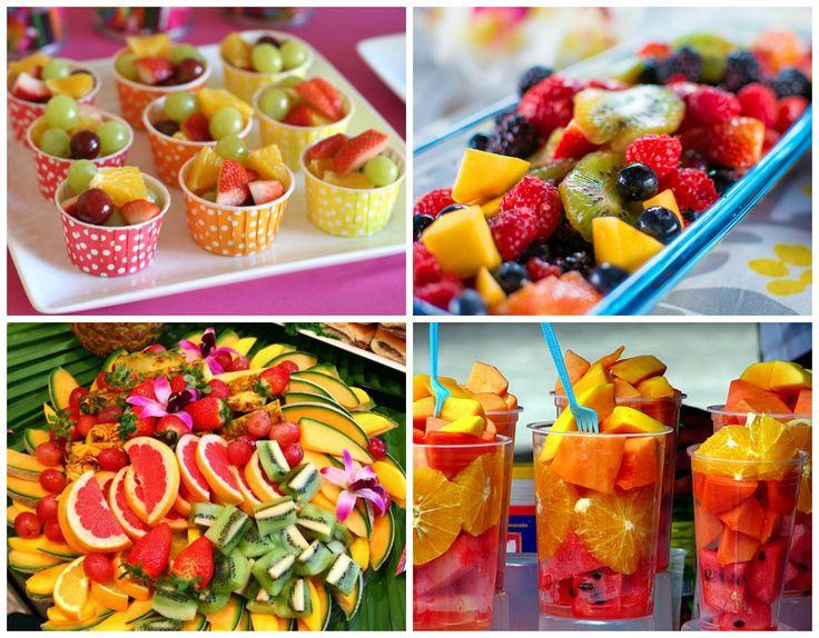 Frutas de festa infantil em cardapio natural
