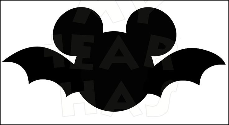 Mickey Mouse Bat INSTANT DOWNLOAD Halloween digital clip art :: My Heart Has Ears