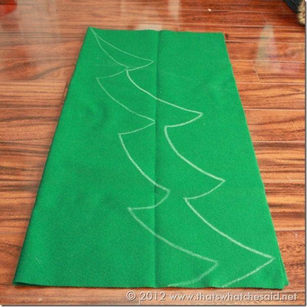 REALIZANDO UN ARBOL DE NAVIDAD CON FIELTRO. Felt Christmas Tree Pattern