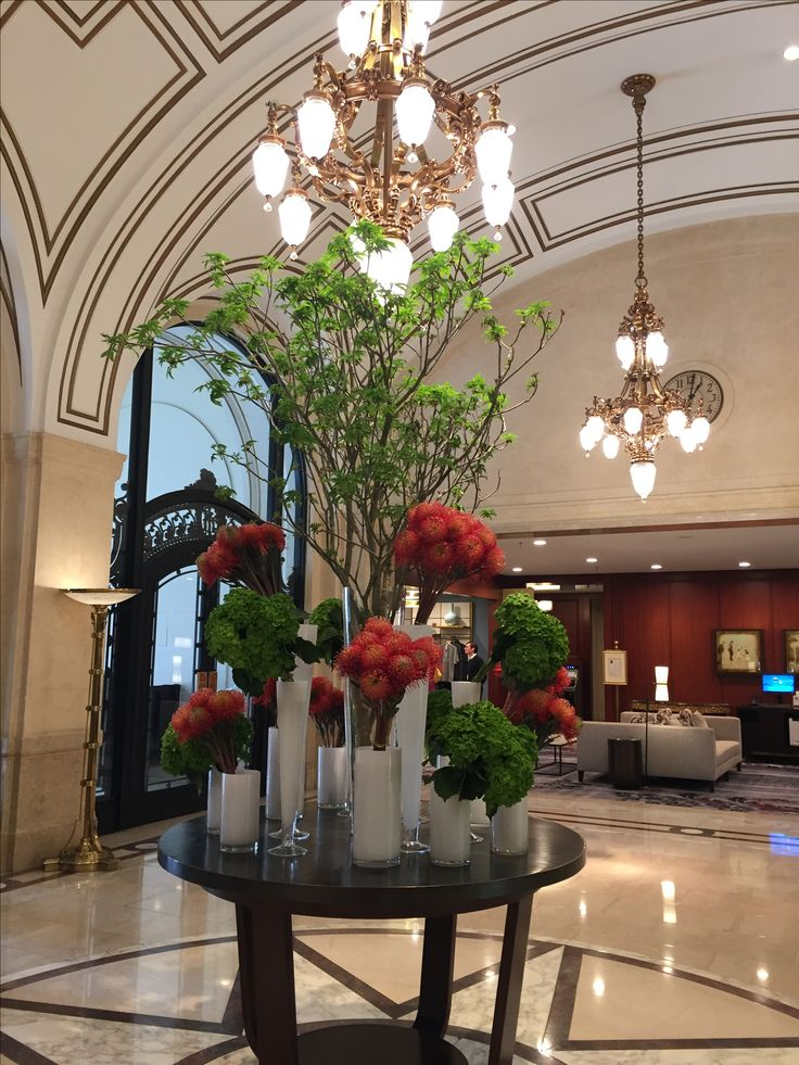 Beautiful lobby of the fabulous Palace Hotel in SF
