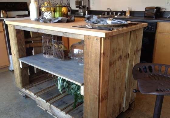 Wyspa Kuchenna Z Palet Meble Z Palet Diy Pallet Furniture Pallet Kitchen Pallet Projects Furniture