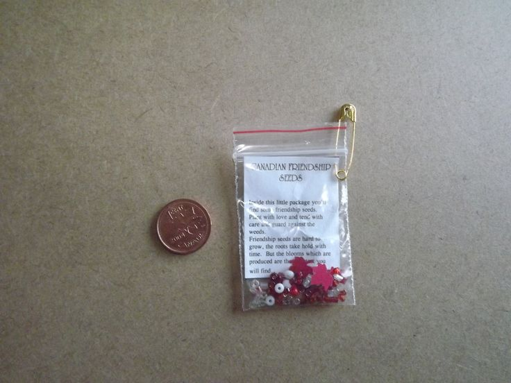 Canadian friendship seeds: red and white tiny beads and maple leaf cut outs (anything red, white or Canadian would do!) This could also be turned into American Friendship seeds with blue beads and stars instead of maple leafs.