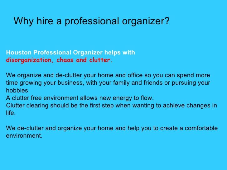 Why hire a Professional Organizer? Magdalena Bogdan, European Professional  Organizer in Houston. http