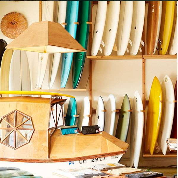 The Most Instagrammed (& Insta-Worthy!) Shops In S.F. #refinery29  http://www.refinery29.com/san-francisco-stores-instagram#slide20  Mollusk Surf Shop Colorful surf boards, wall-to-wall wood, and artful displays mean Mollusk Surf Shop has all the right ingredients for an all-star snap. Mollusk Surf Shop, 4500 Irving Street (at 46th Street); 415-564-6300.