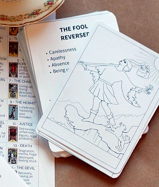 Printable Tarot Flashcards from Learn Tarot With Me