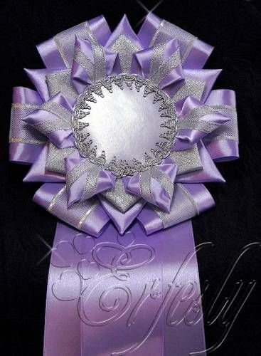 Another beautiful Kanzashi project -- Quilt Show ribbon (Viewer's Choice?) inspiration 4