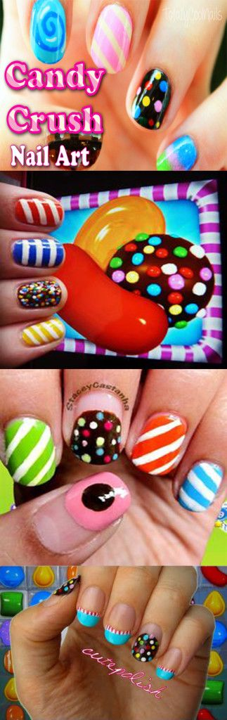 Candy Crush Nail Art Designs how to video