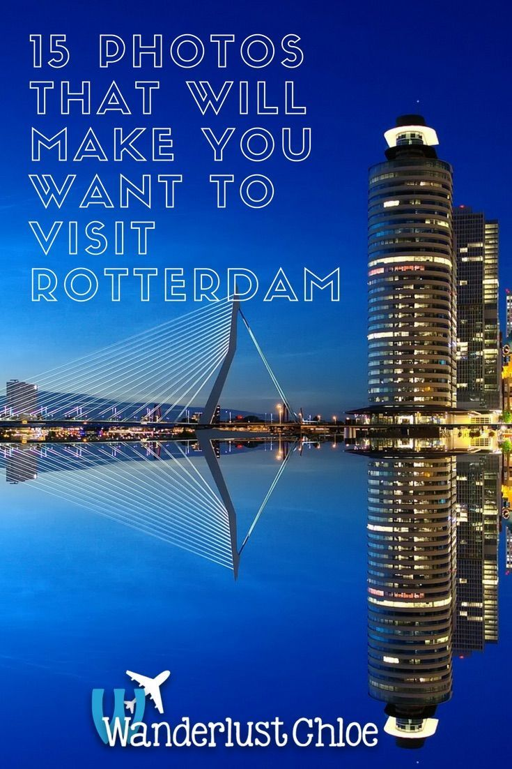 15 Photos That Will Make You Want To Visit Rotterdam. Cool street art, nightlife, a buzzing foodie scene and futuristic architecture – it's time to visit Rotterdam in the Netherlands!