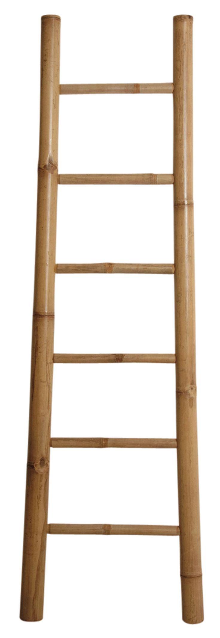 Modernisez votre salle de bain avec cette échelle qui servira de porte serviettes. Réalisée en bambou, elle apportera cette touche de naturel qui manque parfois dans cette pièce.  Ses dimensions : H180 x L55