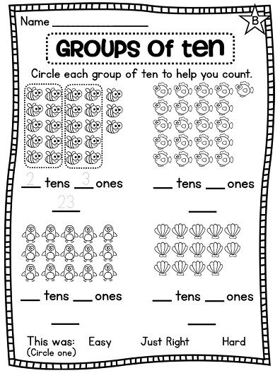 Counting Objects Worksheets For First Grade - counting ...