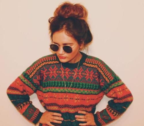 Love the colours and patterns on that sweater....