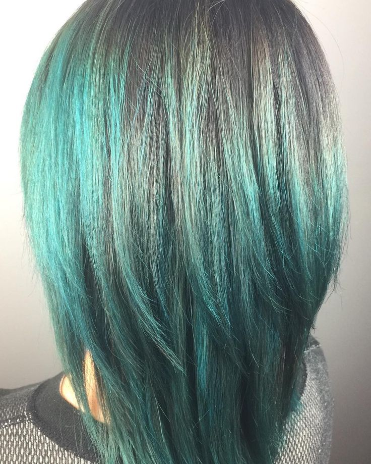 Totally Teal Hombre! By @hannah_e_dupont #hair #haircolor #hombre #paulmitchell