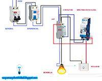 Esquemas eléctricos: Contactor minutero de escalera 4 hilos