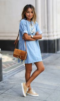Look: Vestido Jeans