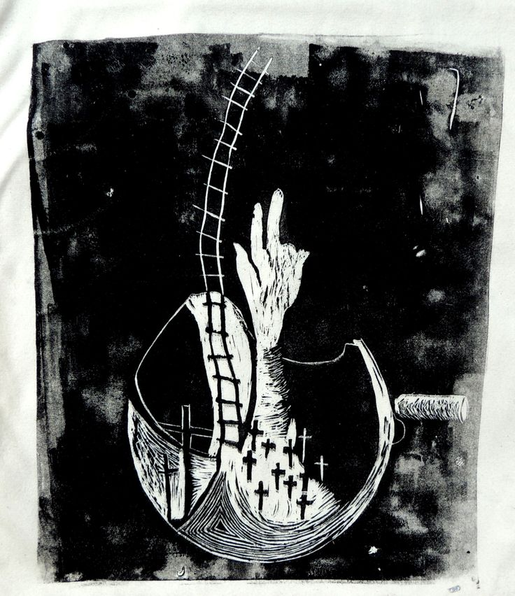 Variation- Tadeusz Kantor  Linocut a2