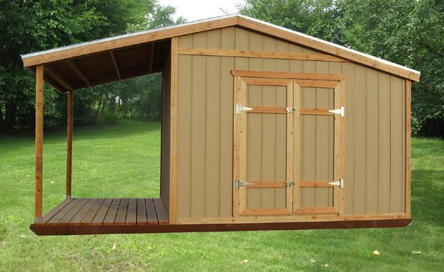 Rustic sheds with porch storage shed plans with porch for Rustic shed with porch