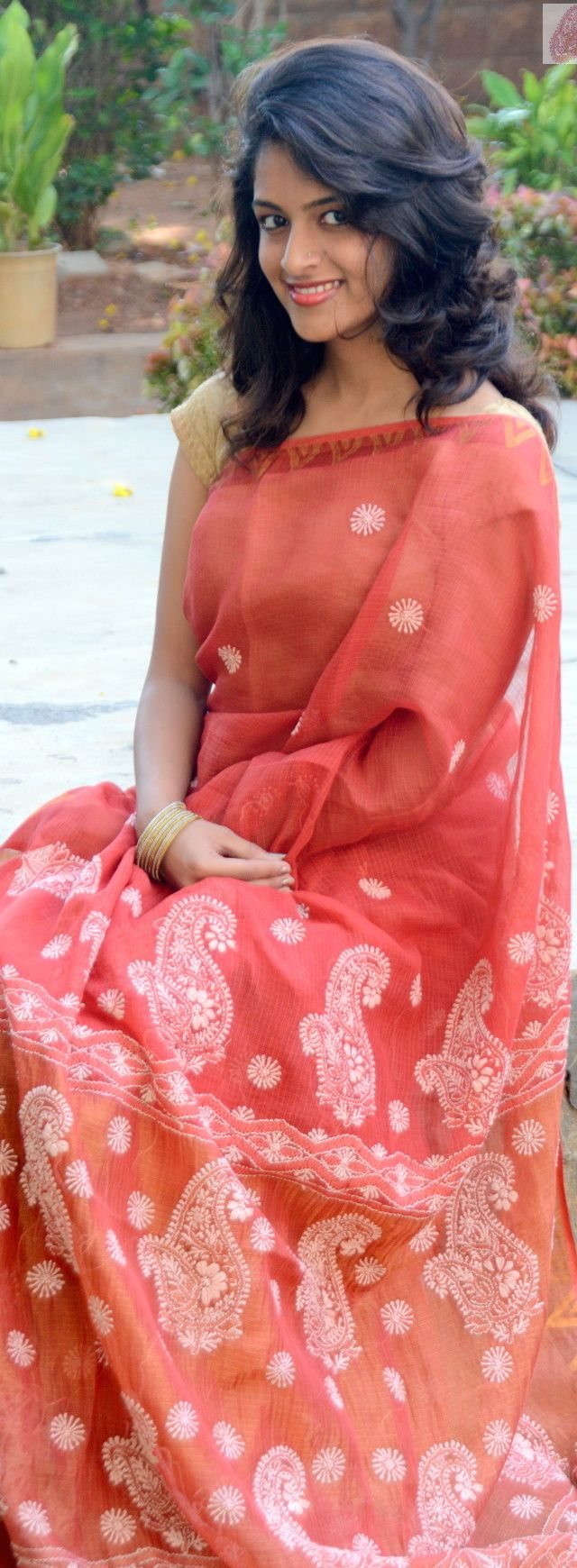Hand embroidered Lucknow chikankari Saree. Myne by Aanchal - pin by @webjournal