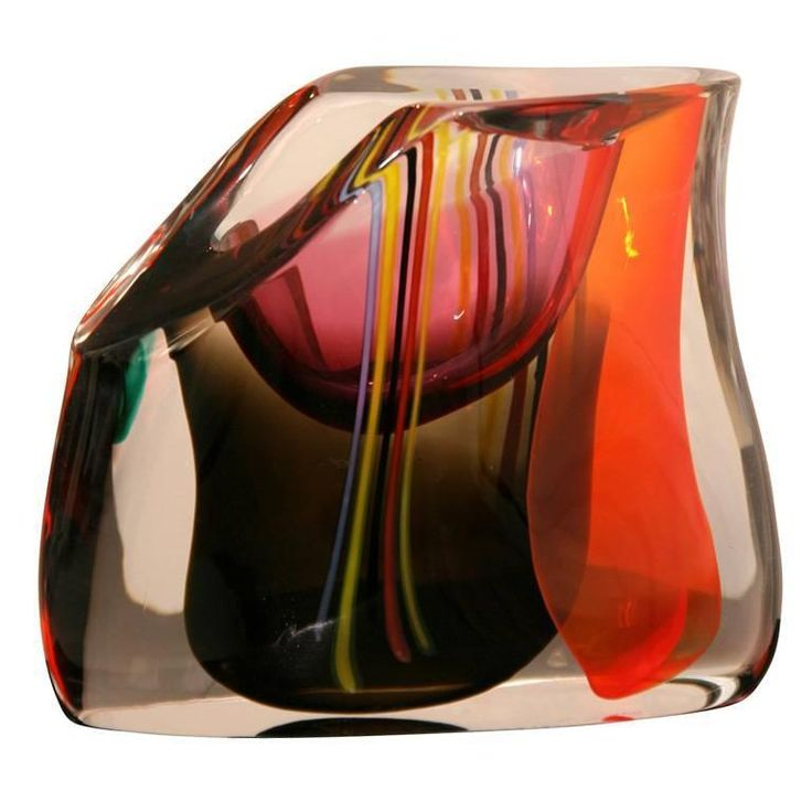 Murano Glass Vase by M.Tosso | From a unique collection of antique and modern glass at https://www.1stdibs.com/furniture/dining-entertaining/glass/