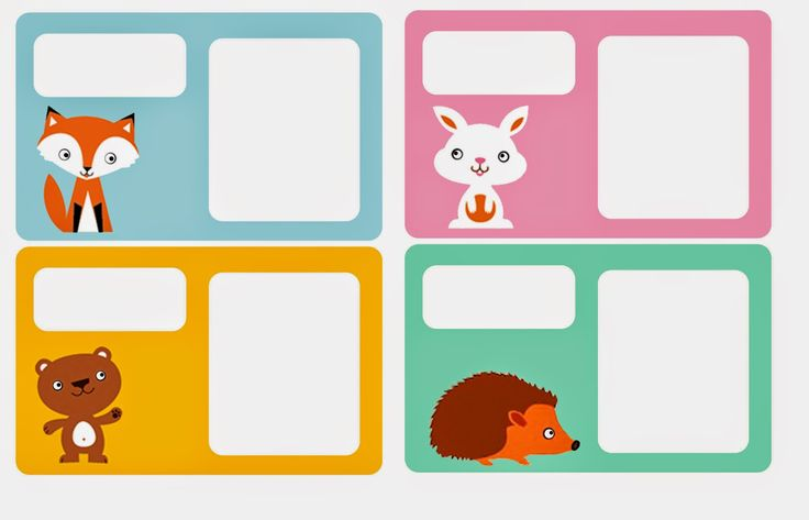 Animals:  Free Printable Frames, Toppers, Tags or Labels.