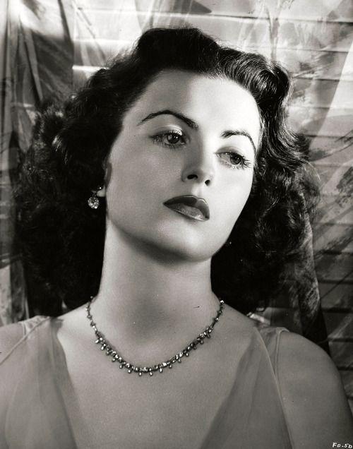 Faith Domergue photographed by Ernest Bachrach, 1950.