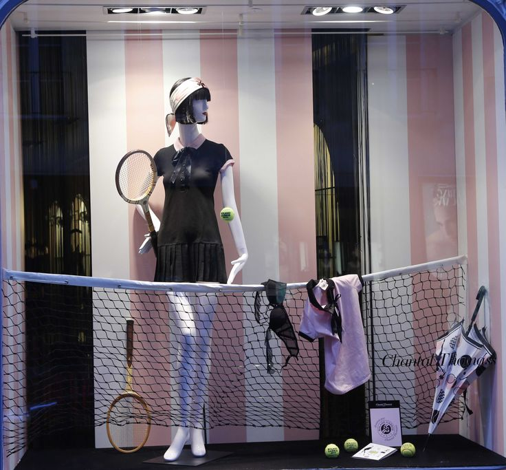 Avril 2014 Roland Garros Vitrine Boutique Chantal Thomass 211 Rue Saint Honoré Paris #ChantalThomass #Lingerie #Paris