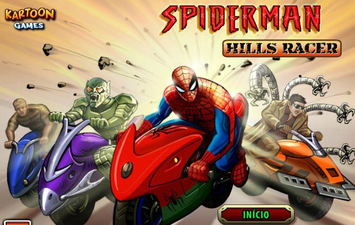 El hombre araña esta apunto de competir con sus enemigos, selecciona quien te guste y trata de ganarlo, ten en cuenta que el protagonista es el Super héroe, ten cuidado en no volcar y no perder.