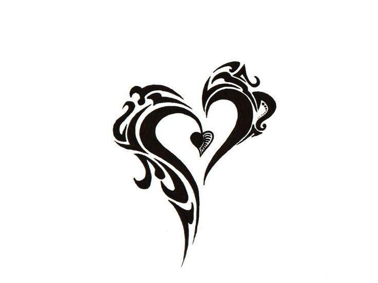 Tribal+Tattoo | Free designs - Tribal heart tattoo wallpaper