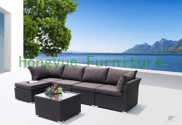 Современный пэ ротанга секционные диван