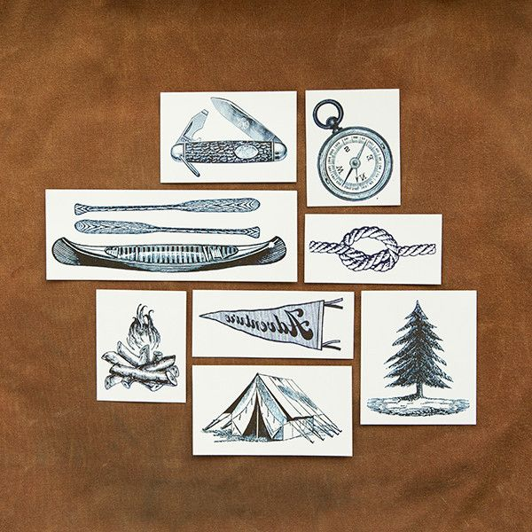 OH MY GOSH. for only 15 dollars you can make me smile. I would absolutely love a set of these camp style temporary tattoos, OR LIKE 10 SETS! hehe.