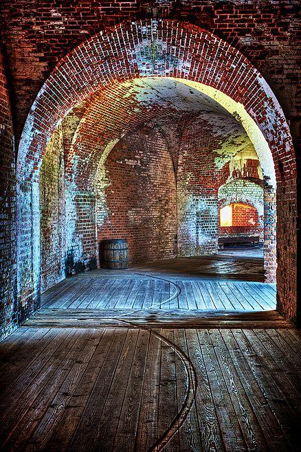 Interior arches of Civil War-era Ft. Pulaski, near Savannah, Georgia. (photo by Jim Crotty)