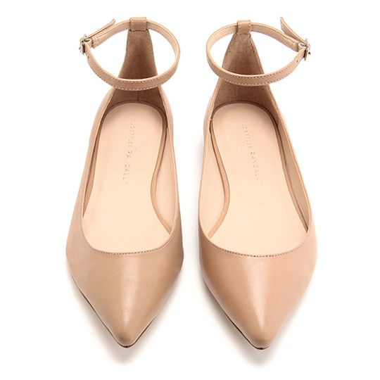 BALLET SHOE COLOUR. POINTY AND FLAT. LOVELY.  Loeffler Randall flats.