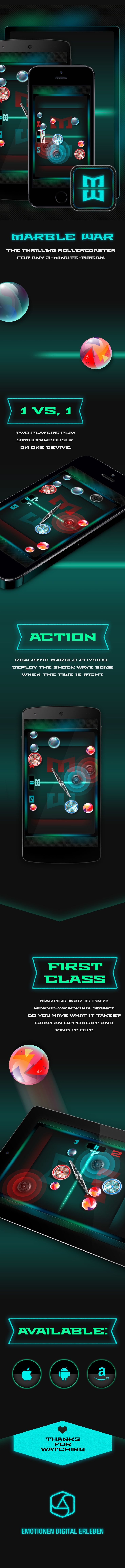 marble war | behance | game | app | UI UX | appcom