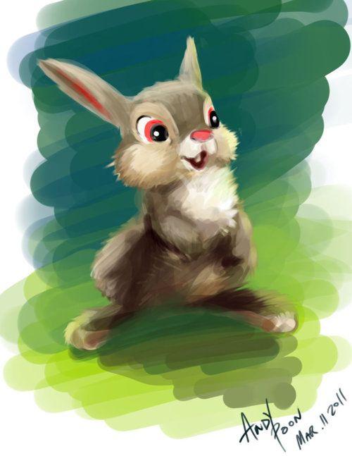 Disny Fan Art - Thumper from Bambi