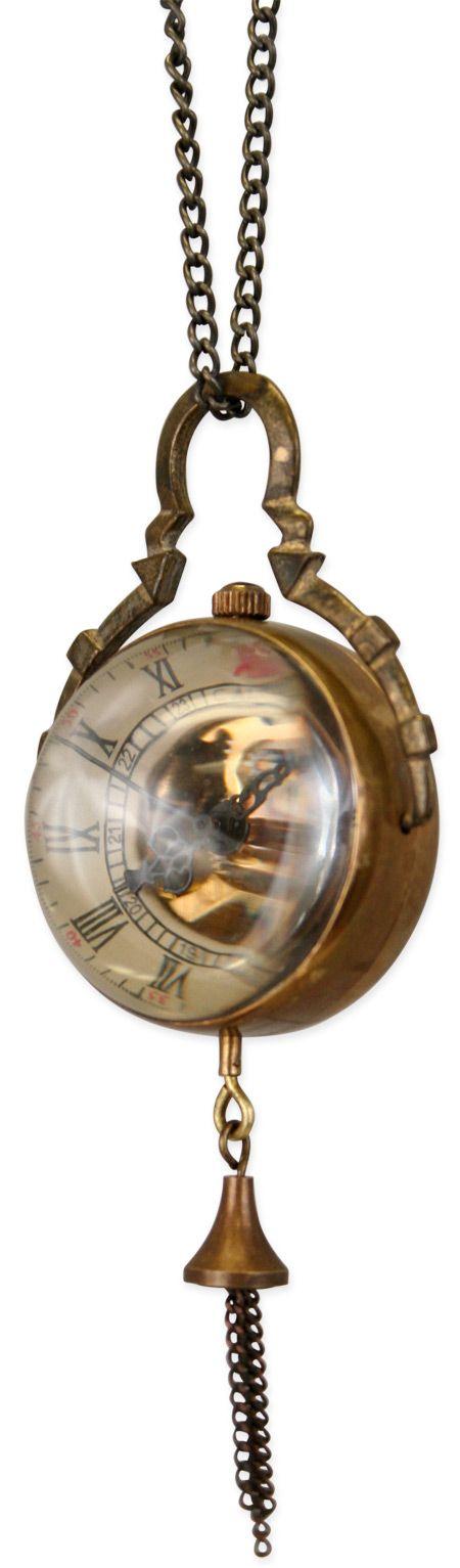Mechanical Globe Watch - Antique Gold (Unisex) [003096]