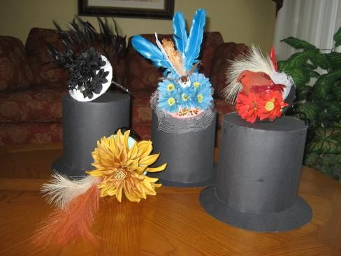 Make Fascinators and Paper Top Hats for your kids to wear for and English Tea Party.