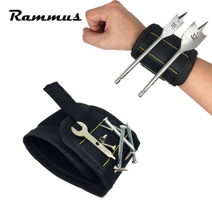 Strong Magnet Magnetic Wristband Pocket Tool Bag Belt Pouch Screws Drill Bit Holder Auto Car