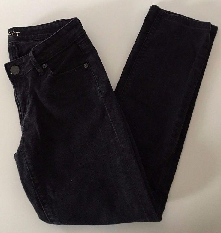 Ann Taylor LOFT Curvy Straight Black Women's Petite Jeans EUC Sz 25 / 0P - 152 #AnnTaylorLOFT #StraightLeg