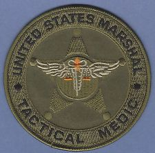 UNITED STATES MARSHAL TACTICAL MEDIC POLICE PATCH