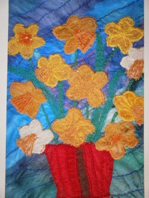 Daffodils. Textile Art £12.50