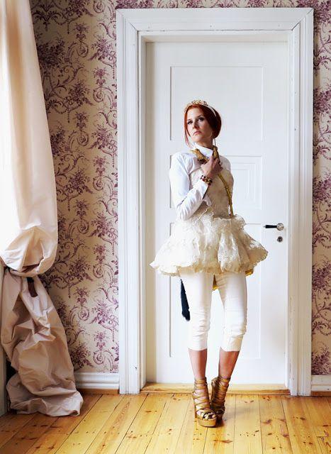 The wardrobe of Ms. B: white , white ,white