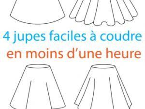 4 jupes faciles à coudre - femme - pdf