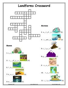 ESL, Landforms, Natural Terrain, Physical World English vocabulary, printable worksheets, Glaciers