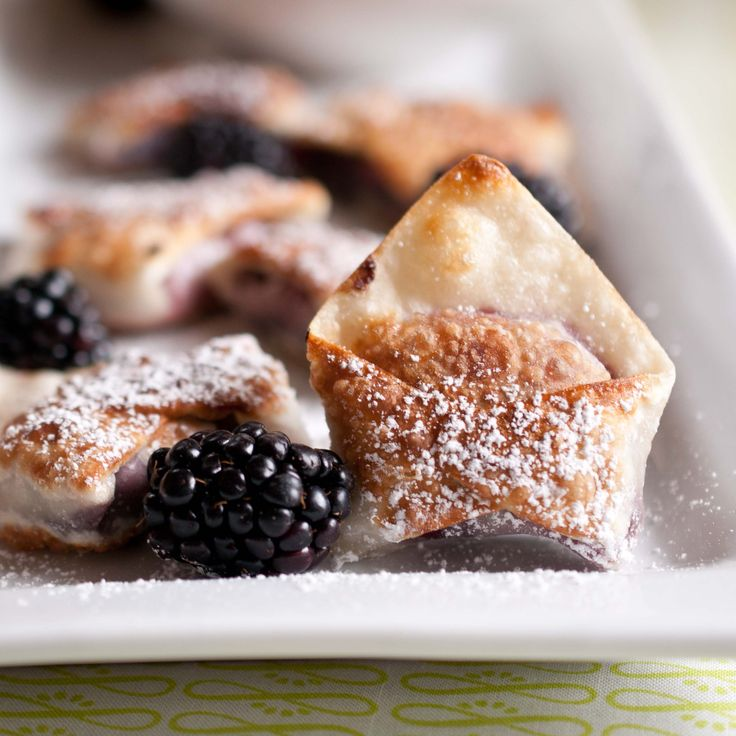 Blackberry Cabernet Wontons | More Blackberry ideas
