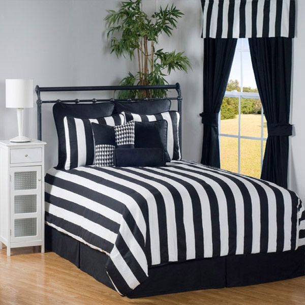 42 Best Images About Black And White Striped Comforter On