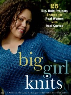 http://www.maggiescrochet.com/big-girl-knits-p-2476.html#.UPcunydEF8E    Big Girl Knits features twenty-five unique patterns for women size 14 and up. From flattering pullovers and sexy tees to sleek skirts and fun accessories, this book is overflowing with options for knitting up an entire wardrobe to compliment your shapely shape.