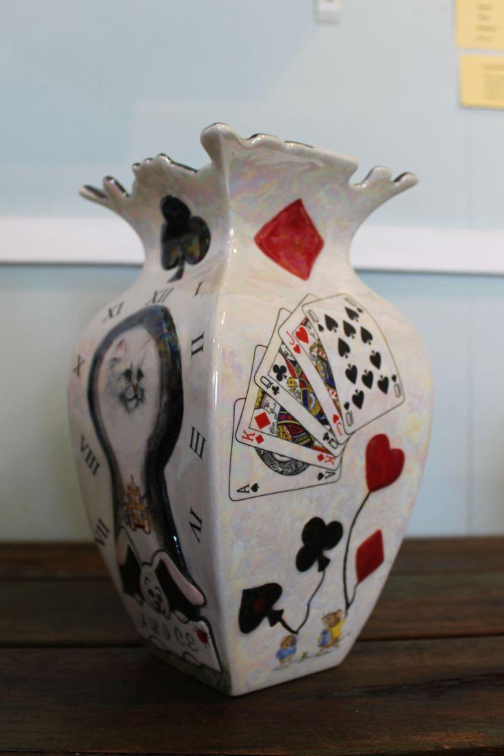 Alice - ceramic vase - AbbieRose Collections https://www.facebook.com/abbierosecollections/
