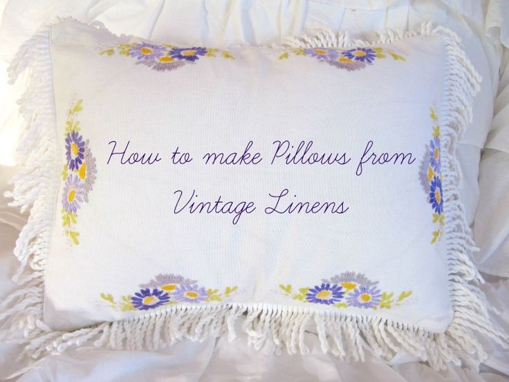 How to make a pillow sham from vintage linens -www.mysoulfulhome.com