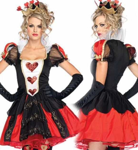 2015 Halloween Costumes Sales Poker Queen Dress Clothes Theme Costume Role Play